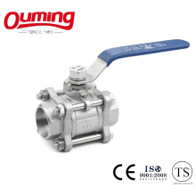 3PC Stainless Steel Ball Valve with Socket Welding End