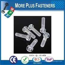 Fabriqué en Taiwan Transparent Nylon Plastic Screw