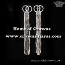Crystal Long Rhinestone Bridal Earrings
