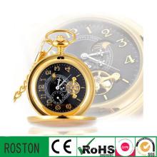 Horloge de poche d'affaires de mouvement automatique pour le cadeau