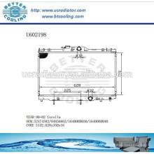 Radiateur pour TOYOTA 98-02 COROLLA 52474582/94856862 / 164000D030 / 164000D040 Fabricant et vente directe