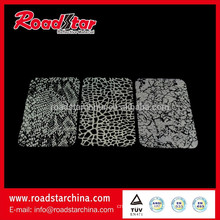 printed mesh style reflective raw material for fashion shoes