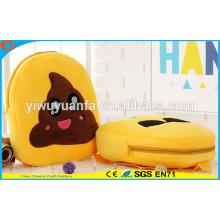 Hot Selling Creative Design Plush Emoji Face Yellow Emoji Backpack
