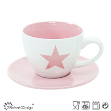 Porcelain Capppuccino Cup & Saucer Bright Color