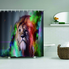 Lion waterdicht douchegordijn dier aquarel badkamer Decor