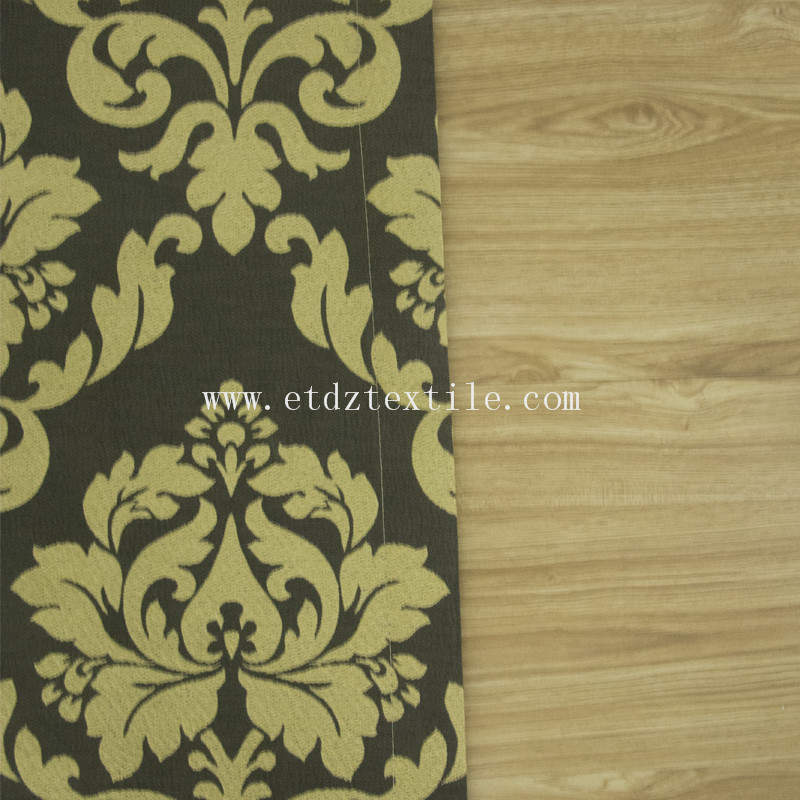 Traditional Miranda Curtain fabric QZ1537 coffee