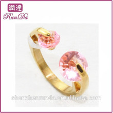 Anillos rojos del acero inoxidable de la joyería de China del diamante de la venta caliente 2014