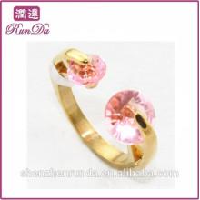 2014 anéis de aço inoxidável da jóia da porcelana do diamante vermelho quente da venda