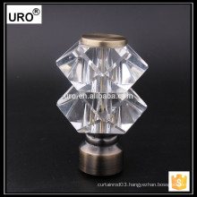 2015 new design double crystal curtain rods