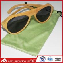 Sac de cordon en tissu microfibre OEM pour lunettes de soleil