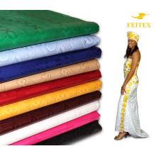 2017 Hot Sales Dyed Fabric Cotton Bazin Riche for African Sexy Dresses