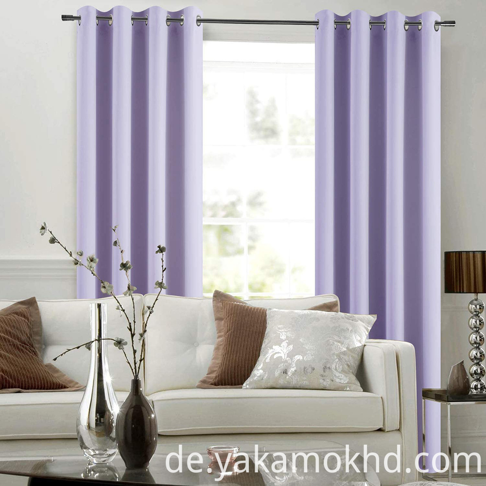 Lilac Thermal Insulated Blackout Curtains