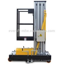 Persönlicher Aufzug-Aluminiumarbeitsplattform-Mast-Heber für einzelne Person mit CER und ISO-Zertifikat