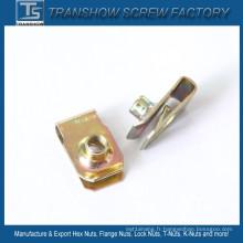 C1065 Ressort en acier M6-1.0 U Clip écrou à ressort
