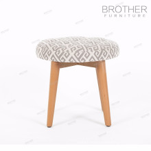 Home goods fabric cover round modern footstool ottoman