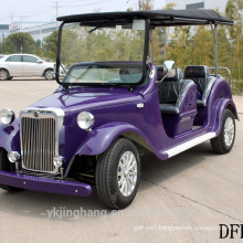new 7.5KW 68V 6 seater passenger electric classic vintage sightseeing golf carts for wholesale