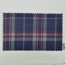 tecido de terno de lã lisa de viagem para verificação de tartan de repórter feita na China