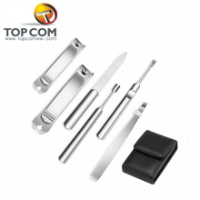 6pcs manicure pedicure set ferramentas unhas de aço inoxidável toe cortador de unha tesoura