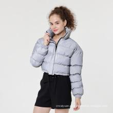 Abrigo reflectante acolchado con burbujas de moda para mujer