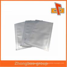 Plástico resealable pequena folha de alumínio selados a vácuo sacos china maker