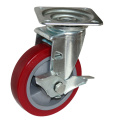 7'' heavy duty industrial caster with pu wheels