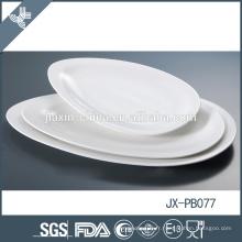 pate à dîner en porcelaine blanche, assiette à pizza, assiette de style coréen, assiette de service de table d'hôtel