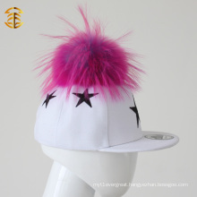 Top Sale Fur Pom Pom Kids Caps Custom Snapback Hats for Kids