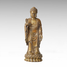 Buddha Bronze Skulptur Tathagata Dekor Messing Statue Tpfx-B96