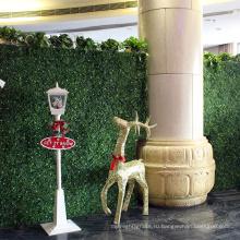Завод оптовая дешевые искусственные растения живой изгороди стены для магазинов украшения