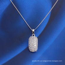 Colgante de joyería de aleación de cobre de moda con incrustaciones de CZ sintéticas