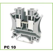 DIN Rail 10mm2 Screw Cage Clamp Terminal Blok