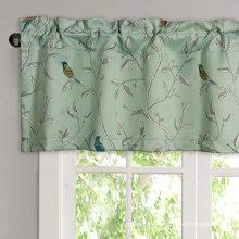 Cantonnières de rideau de fenêtre à passe-tringle occultant pour chambre à coucher