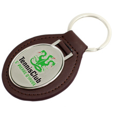 Hot sell factory price custom metal leather keychain