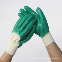 Grüner Nitril-vollständig überzogener Chemikalienhandschuh-5033