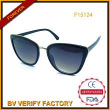 Новая тенденция PC & металла Sunglass, горячие продает очки (F15124)