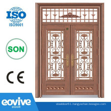 Luxury and safety double front entry doors fiberglass