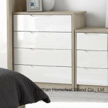 Gabinete de caixa da gaveta do quarto da forma simples da pintura (HC30)
