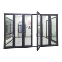 WANJIA aluminum frame soundproof bi folding door