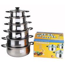 12PCS Set Pot de soupe en acier inoxydable