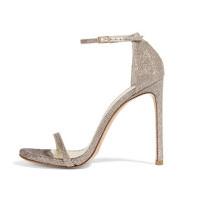 Sandale femme sexy à talons hauts gris