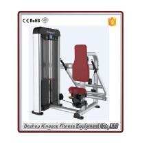 Equipo de gimnasio comercial sentado tríceps DIP máquina