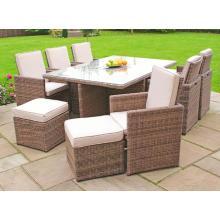 6 muebles de jardín al aire libre de la tabla de la silla de la rota del cubo (GN-8622D)