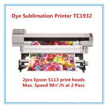Impresora textil de formato ancho para impresión por sublimación