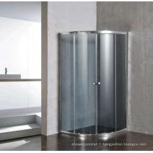 Écran simple de pièce de douche de verre gris sans plateau (E-01Grey)
