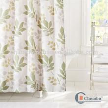 Hotsale personalizado impressa folhas chuveiro cortinas