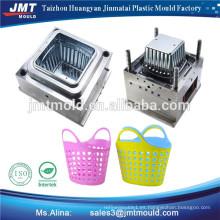cesta de inyección de molde de plástico con asas