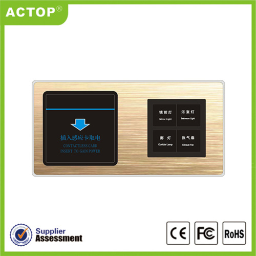 Έξυπνο Rcu 1 Gang Touch Metal Switch για το Smart Hotel