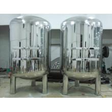 Tanque de almacenamiento líquido de acero inoxidable para tratamiento de agua