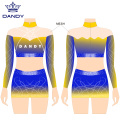 Sublimierte Crop Top Cheer Uniformen