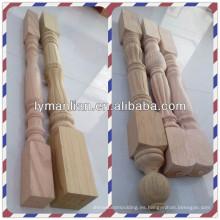 Top balaustres de madera y newels